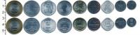 Изображение Наборы монет Индия Индия 1987-2012 0  UNC- В наборе 9 монет ном