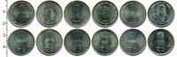 Изображение Наборы монет Индия Индия 2007-2014 0 Медно-никель UNC- В наборе 6 монет ном