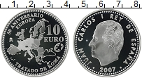 Изображение Монеты Европа Испания 10 евро 2007 Серебро Proof-