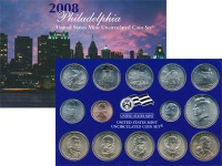 Изображение Подарочные монеты США Выпуск 2008 года 2008  UNC