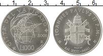 Изображение Монеты Европа Ватикан 1000 лир 2001 Серебро UNC