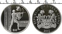 Изображение Монеты Сьерра-Леоне 10 долларов 2003 Серебро Proof- XXVIII Олимпиада Афи