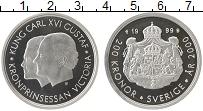 Изображение Монеты Швеция 200 крон 2000 Серебро Proof-