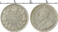 Изображение Монеты Канада 10 центов 1914 Серебро  Георг V.
