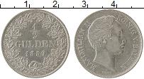 Изображение Монеты Германия Бавария 1/2 гульдена 1859 Серебро UNC-