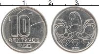 Изображение Мелочь Бразилия 10 сентаво 1989 Медно-никель UNC-