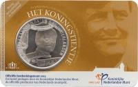 Изображение Подарочные монеты Нидерланды Виллем-Александр 2013 Посеребрение UNC