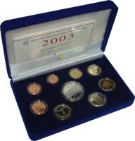 Изображение Подарочные монеты Италия Евронабор 2003 года 2003  Proof