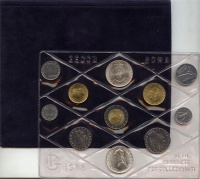 Изображение Подарочные монеты Италия Выпуск монет 1988 года 1988  UNC