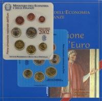 Изображение Подарочные монеты Италия Евронабор 2002 2002  UNC