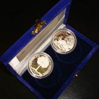 Изображение Подарочные монеты Италия Набор монет 2003 года 2003 Серебро Proof Подарочный набор пос