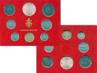 Изображение Подарочные монеты Ватикан Набор монет 1974 года 1974   Набор монет Ватикана