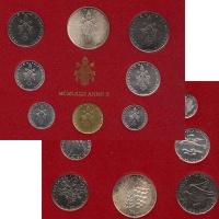 Изображение Подарочные монеты Ватикан Набор монет 1972 года 1972  UNC Набор монет 10-го го