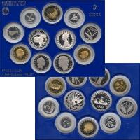 Изображение Подарочные монеты Италия Регулярный выпуск 89 1989  Proof Подарочный набор из