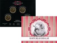 Изображение Подарочные монеты Австралия 1 доллар 2001 Медно-никель UNC В наборе четыра 1-до