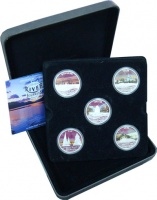 Изображение Подарочные монеты Тувалу Великие реки мира 2010 Серебро Proof