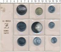 Изображение Наборы монет Италия Набор 1970 1970  UNC В наборе 9 монет ном