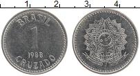 Изображение Мелочь Бразилия 1 крузадо 1987 Медно-никель UNC-