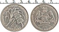 Изображение Мелочь Доминиканская республика 4 доллара 1970 Медно-никель UNC-
