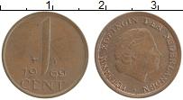 Изображение Мелочь Нидерланды 1 цент 1968 Медь VF