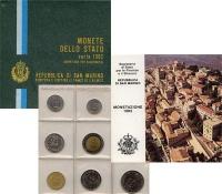Изображение Подарочные монеты Сан-Марино Регулярный выпуск 1982 года 1982