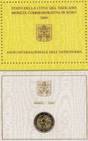 Изображение Подарочные монеты Ватикан Международный год астрономии 2009 Биметалл UNC