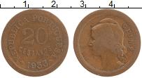 Изображение Мелочь Гвинея-Бисау 20 сентаво 1933 Медь XF