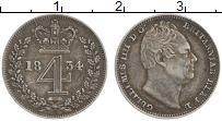 Изображение Монеты Европа Великобритания 4 пенса 1834 Серебро XF
