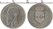 Изображение Монеты Конго 50 сентим 1896 Серебро VF Леопольд II