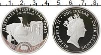 Изображение Монеты Острова Кука 1 доллар 2004 Серебро Proof- Елизавета II. Парово