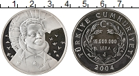 Изображение Монеты Турция 15000000 лир 2004 Серебро Proof-