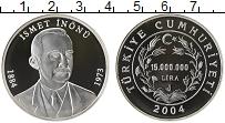 Изображение Монеты Азия Турция 15000000 лир 2004 Серебро Proof-