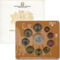 Изображение Подарочные монеты Италия Евровыпуск 2011 года 2011  UNC