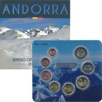 Изображение Подарочные монеты Андорра Евронабор, Альпы 2014  UNC Представляем Вашему