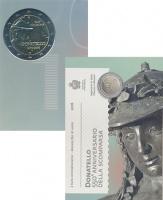 Изображение Подарочные монеты Сан-Марино Донателло 2016 Биметалл UNC Монета посвящена 550