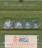 Изображение Подарочные монеты Ангилья День Ангильи 1969 Серебро Proof