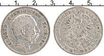 Изображение Монеты Саксония 2 марки 1876 Серебро VF Альберт.  Е.