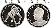 Изображение Монеты Гамбия 20 даласи 1994 Серебро Proof- Олимпиада 1992 г.