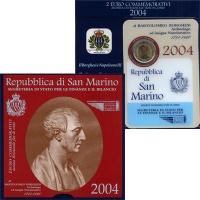 Изображение Подарочные монеты Сан-Марино 2 евро 2004 Биметалл UNC