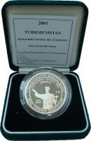 Изображение Подарочные монеты Туркменистан 500 манат 2001 Серебро Proof
