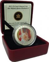 Изображение Подарочные монеты Канада 25 центов 2013 Медно-никель Proof