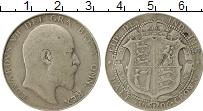 Изображение Монеты Великобритания 1/2 кроны 1906 Серебро VF Эдуард VII