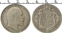 Изображение Монеты Европа Великобритания 1/2 кроны 1909 Серебро VF