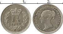 Изображение Монеты Европа Великобритания 1 1/2 пенни 1843 Серебро XF