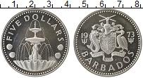 Изображение Монеты Северная Америка Барбадос 5 долларов 1973 Серебро Proof-