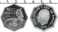 Изображение Монеты Испания 1500 песет 1999 Серебро Proof