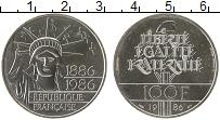 Изображение Монеты Франция 100 франков 1986 Серебро UNC 100 - летие Республи