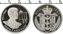 Изображение Монеты Ниуэ 5 долларов 1992 Серебро Proof Джон Ф. Кеннеди.