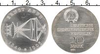 Изображение Монеты ГДР 20 марок 1980 Серебро UNC- 140 - летие  Эрнста