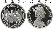 Изображение Монеты Гибралтар 5 фунтов 2005 Серебро Proof